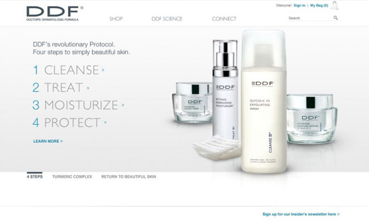 DDF Skincare Website