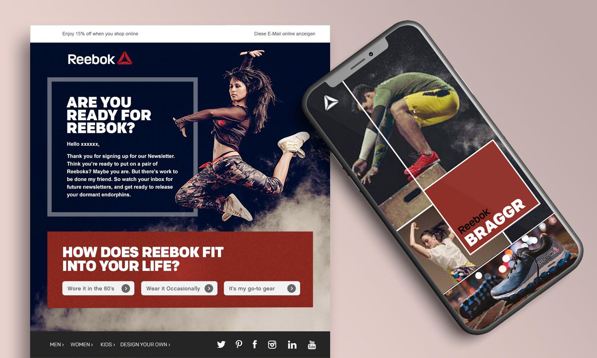 Reebok Onboarding Email and Website Design