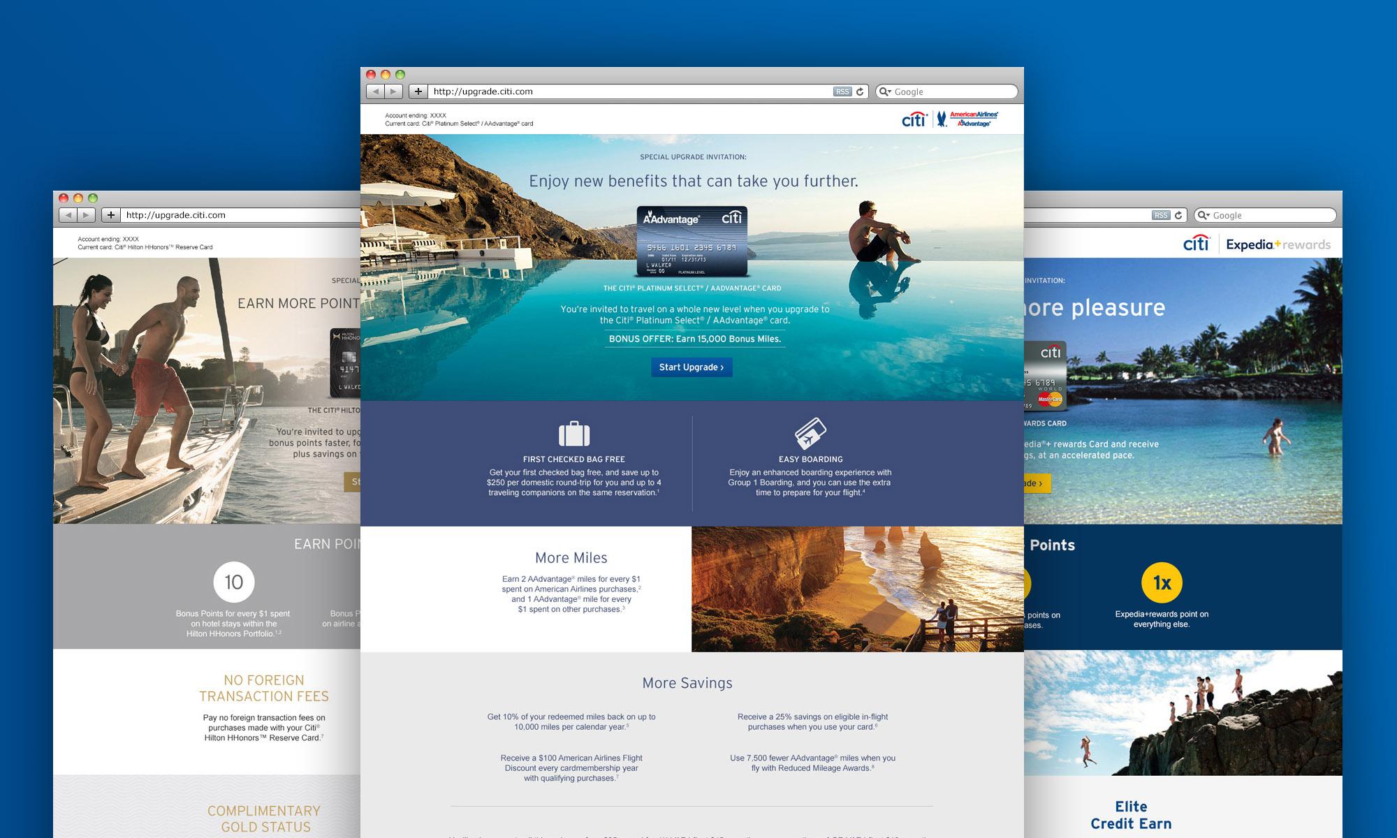 Citi Upgrade Website Design
