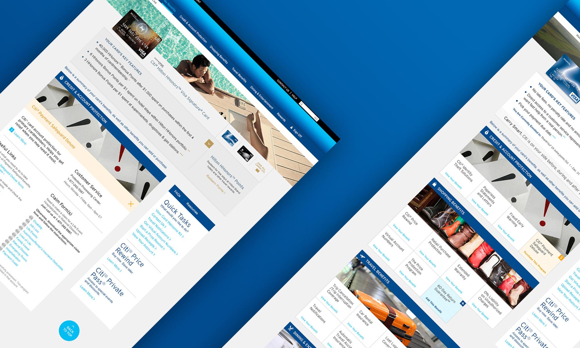 Citi Benefits Website Design